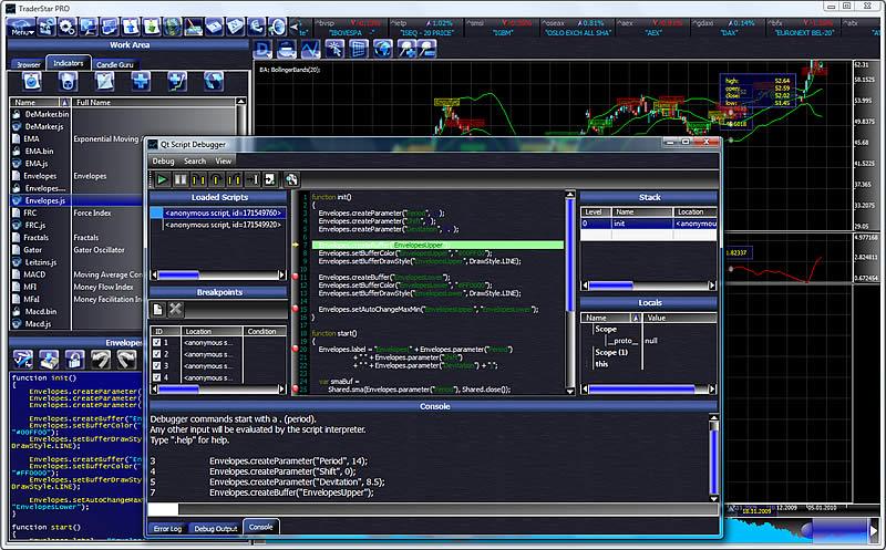 Screenshot vom Programm: TraderStar