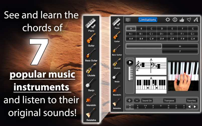 Chords Maestro Lite – Learn The Chords Of All Music Instruments