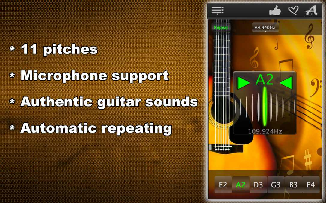 Easy Guitar Tuner – Tune Your Music Instrument Fast & Precisely