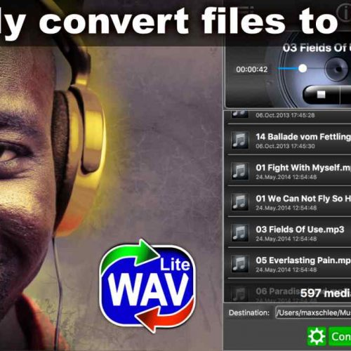 Easy WAV Converter Lite – Convert MP3 Music to WAV for FREE !