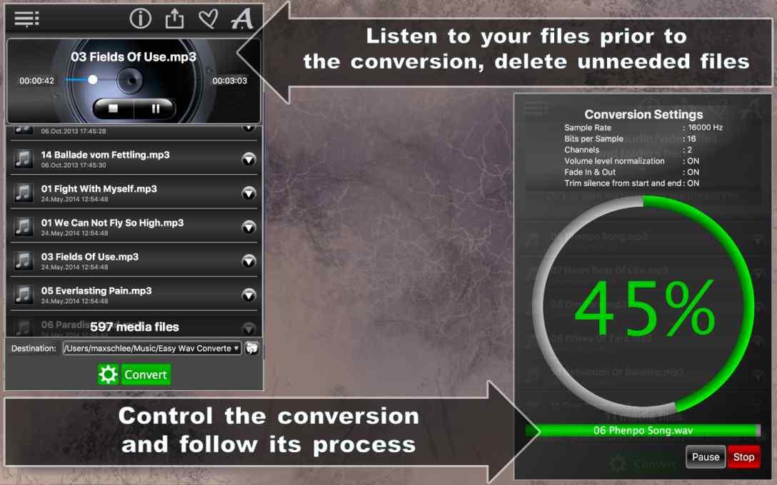 Easy WAV Converter Lite – Convert MP3 Music to WAV for FREE