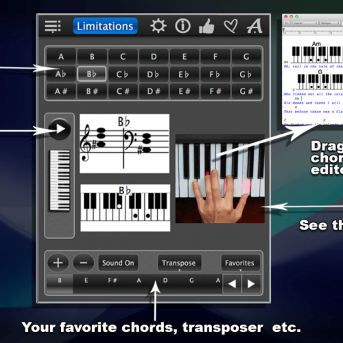 Piano Chords Lite – Learn How To Play Chords With Photos