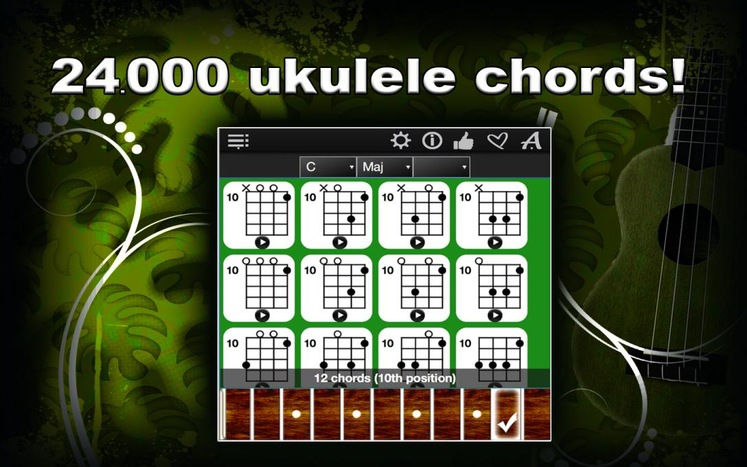 Ukulele Chords Compass – Find & Play All Ukulele Chords ! – Neonway