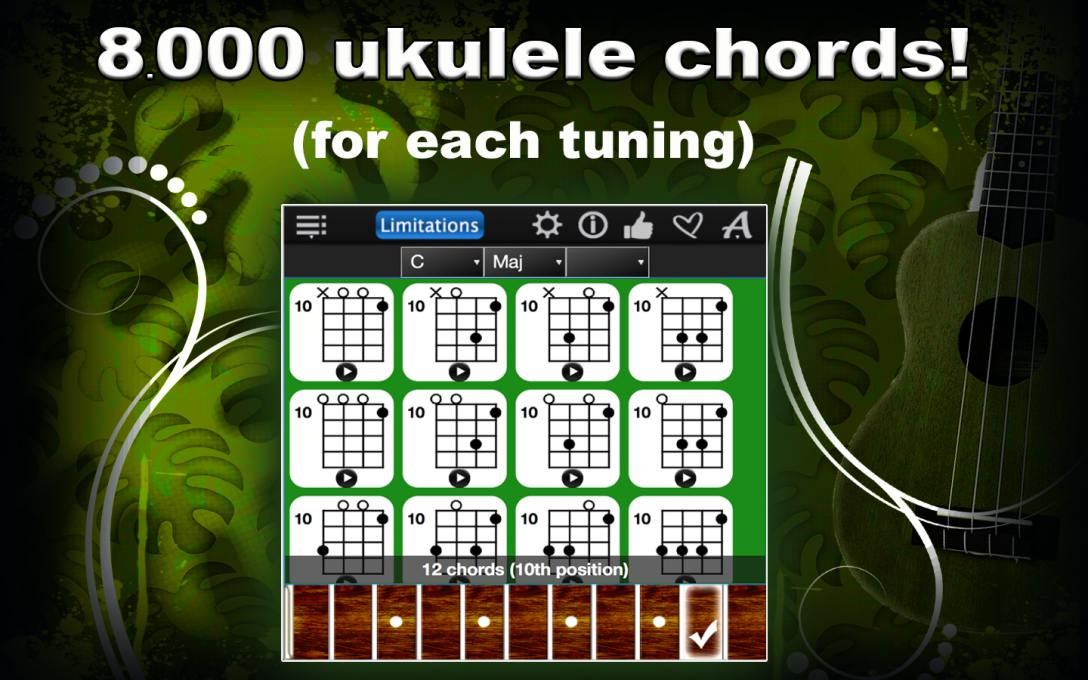 Ukulele Chords Compass Lite – Find & Learn All Ukulele Chords !