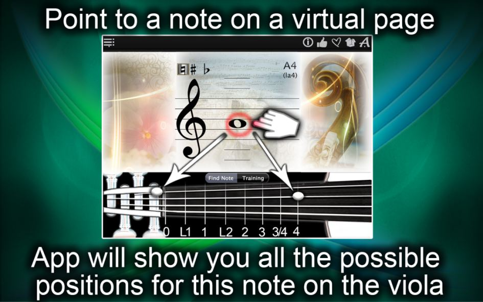 Viola Notes Finder – Find & Learn the Notes