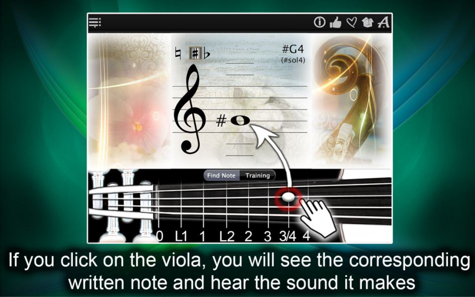 Viola Notes Finder