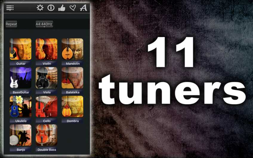 11Tuners – Tune All Music Instruments Precisely !