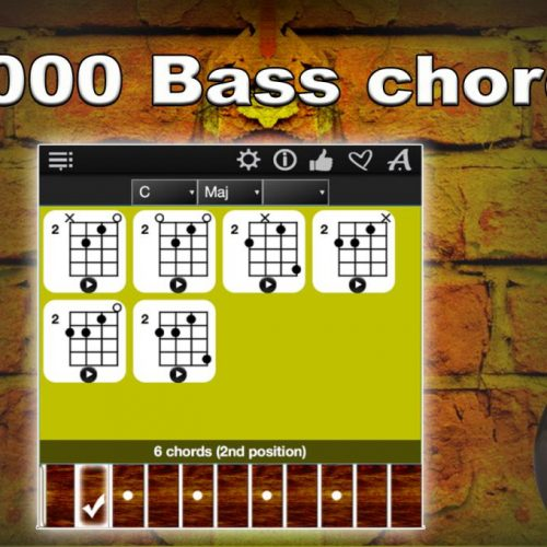 Bass Chords Compass – Find, Play & Learn All Bass Guitar Chords !