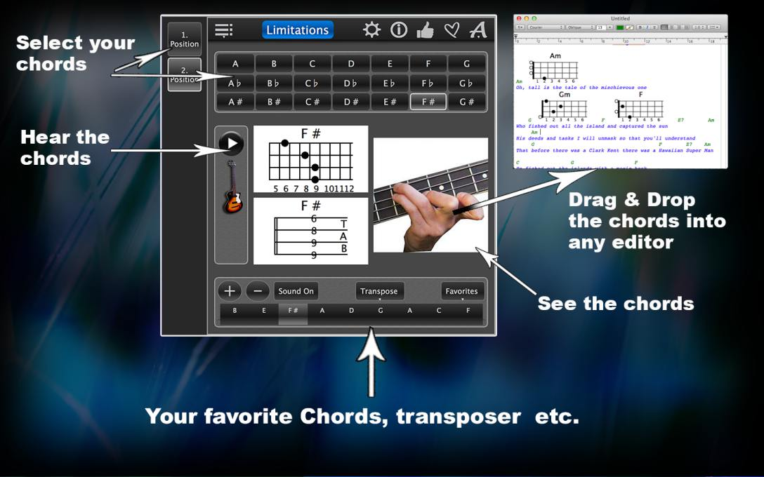 Bass Chords Lite – Learn How To Play The Chords With Photos