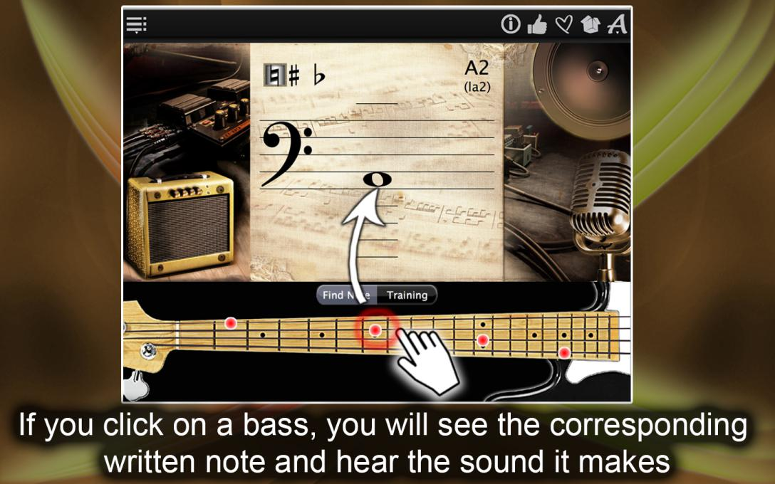 Bass Notes Finder – Find & Learn The Music Notes !