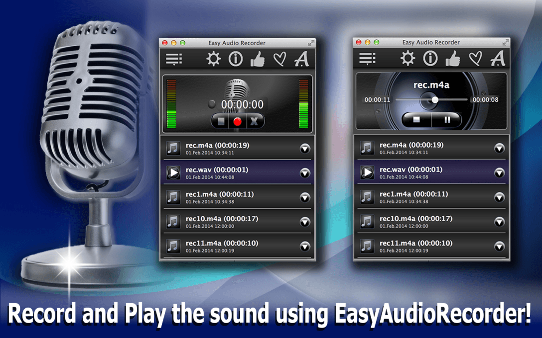 Easy Audio Recorder Lite – Record Music & Podcasts On Computer