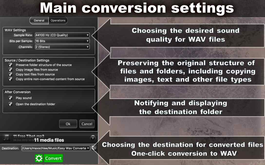 Easy WAV Converter – Convert MP3 Music To WAVE Format !