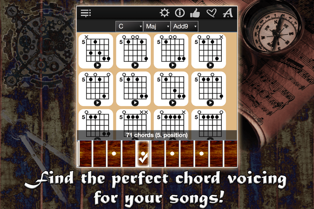 Guitar Chords Compass – Find & Play All Chord Charts
