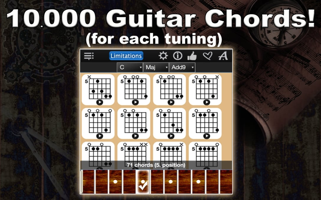 Guitar Chords Compass Lite – Find & Play All Chords !