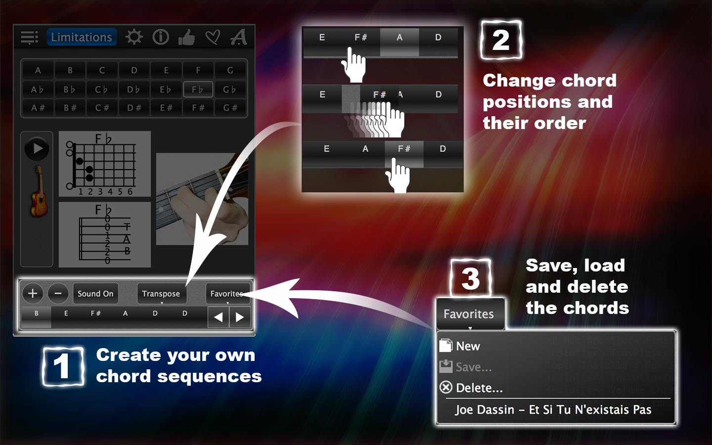 Guitar Chords Lite – Learn How To Play Chords With Photos For FREE