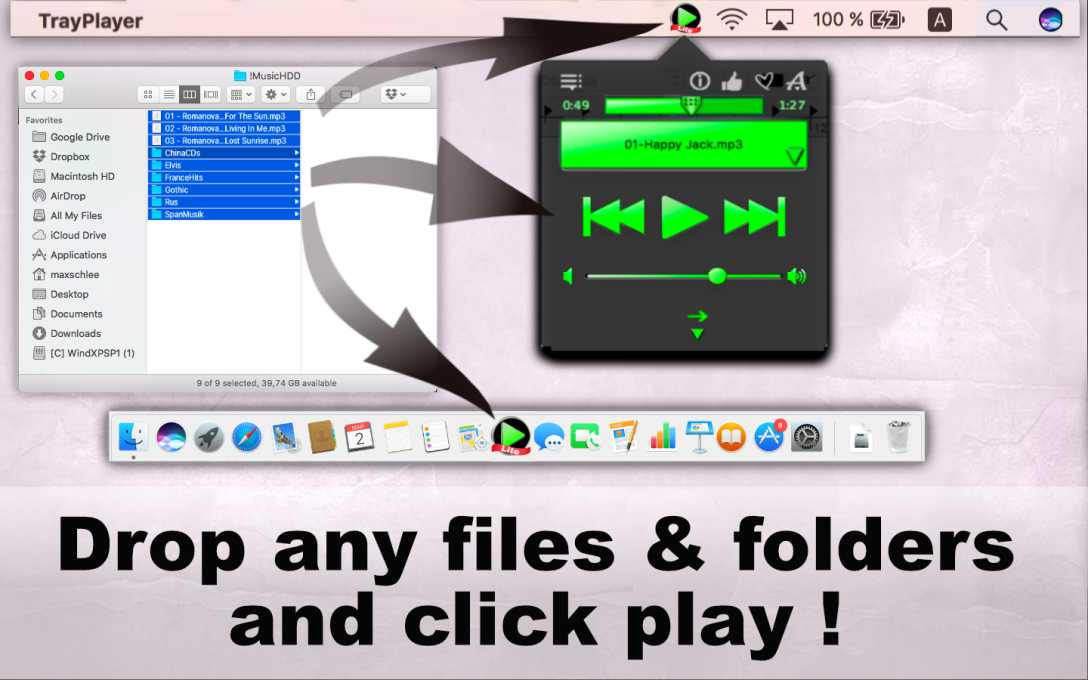 Tray Player Lite – Play & Listen To MP3 Music !