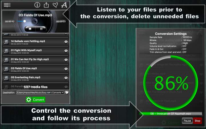 Easy MP3 Converter Lite – Convert All Audio Files To MP3 for FREE