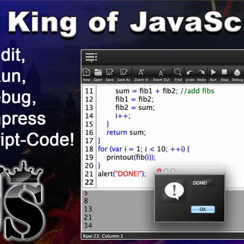 JS King – Edit, Run, Debug & Compress JavaScript Code